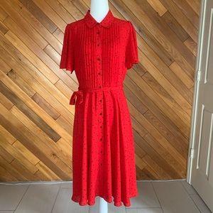 Red Nanette Lepore Shirt Dress